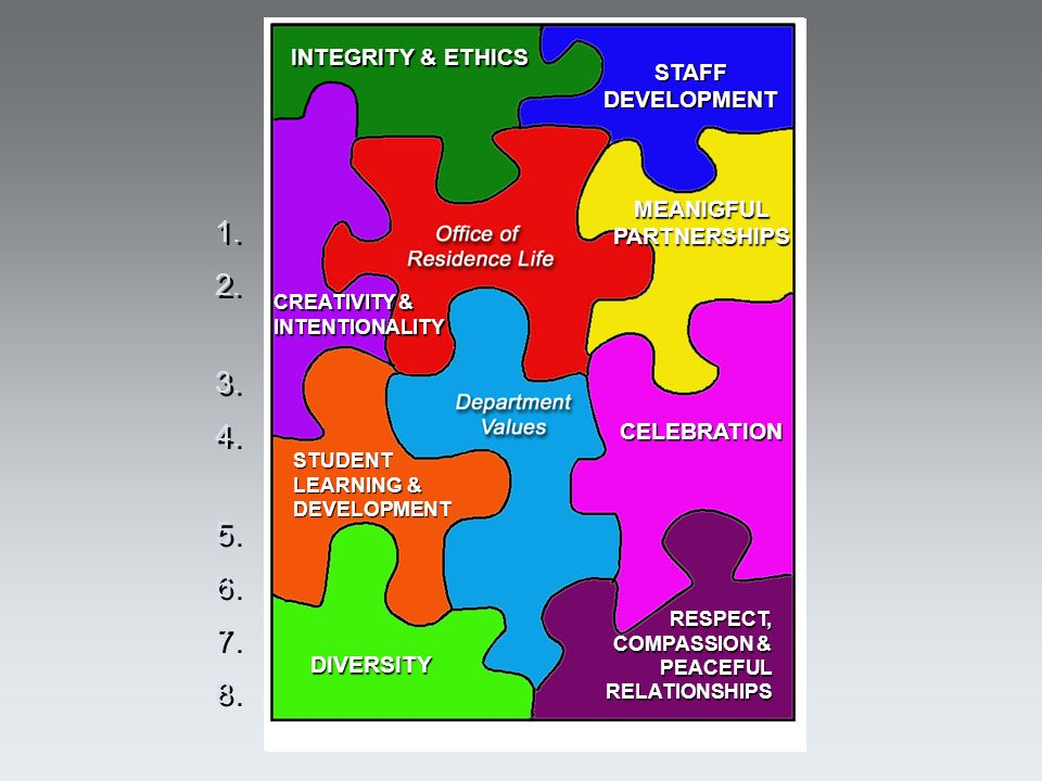 What are our professional values in ORL. 1. Integrity and ethics 2.