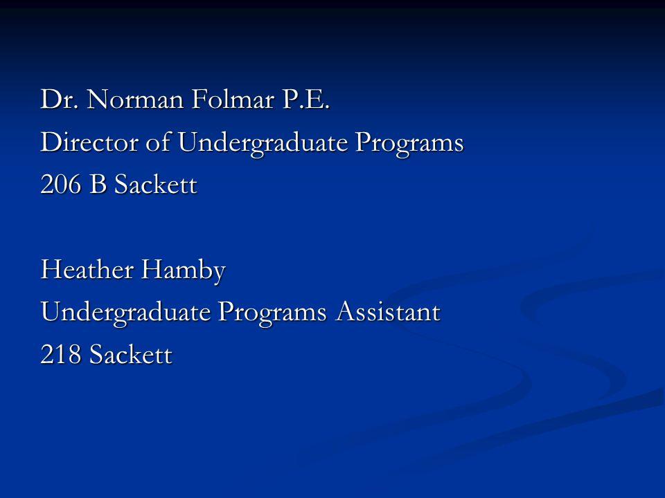 Dr. Norman Folmar P.E.