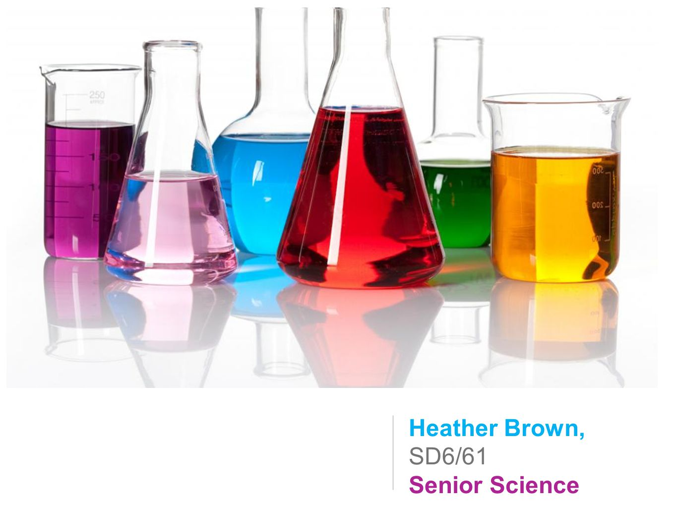 Heather Brown, SD6/61 Senior Science