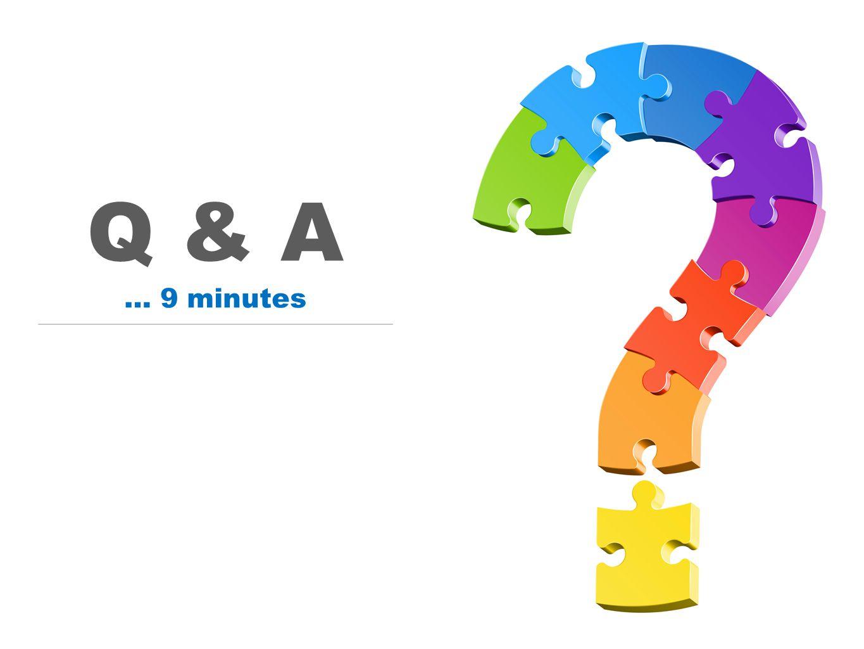 Q & A … 9 minutes
