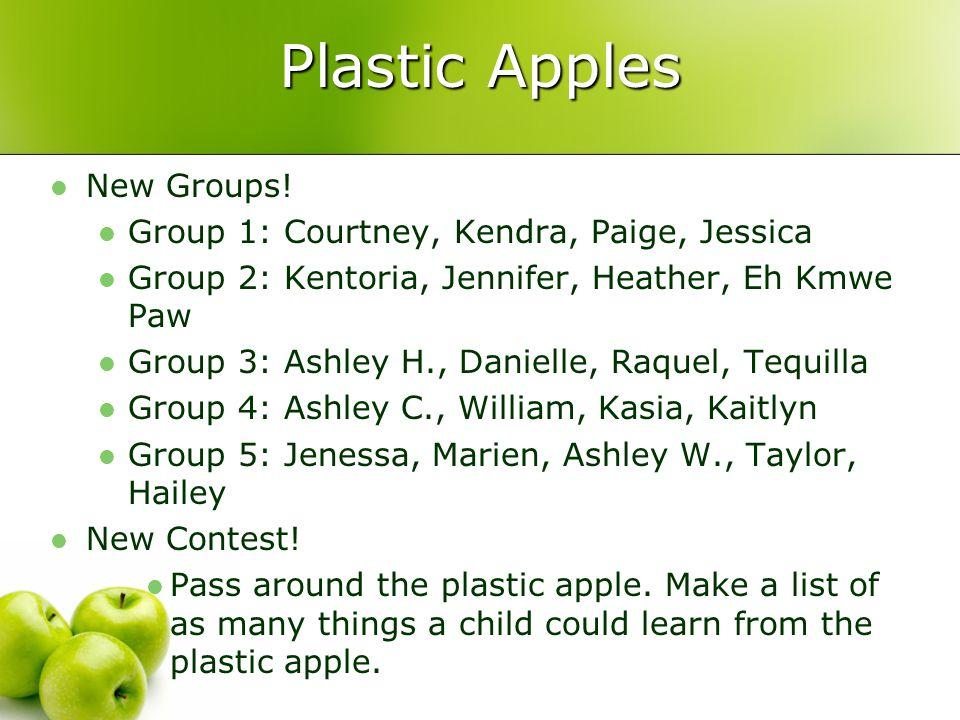 Plastic Apples New Groups.