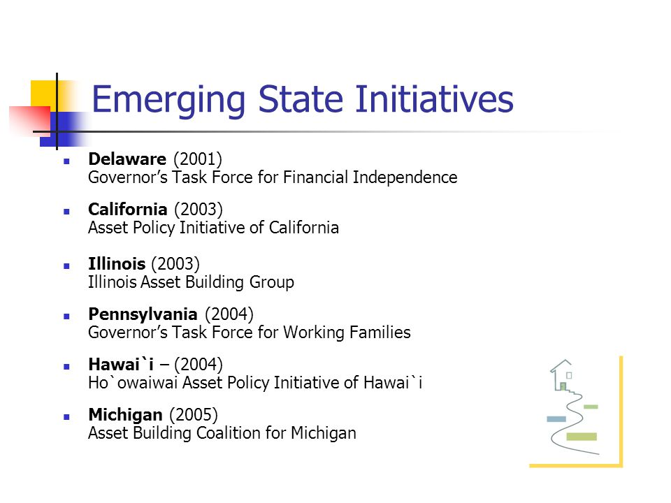 Promoting Economic Security for Working Families: State Asset Policy Initiatives Heather McCulloch Principal/Asset Building Strategies Heathermcc@sbcglobal.net (415) 378-6703 Full report: Promoting Economic Security for Working Families: State Asset Building Initiatives Available at: www.knowledgeplex.org Research supported by the Fannie Mae Foundation