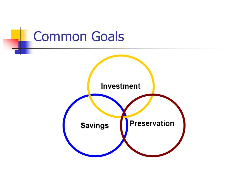 Common Goals Savings Investment Preservation