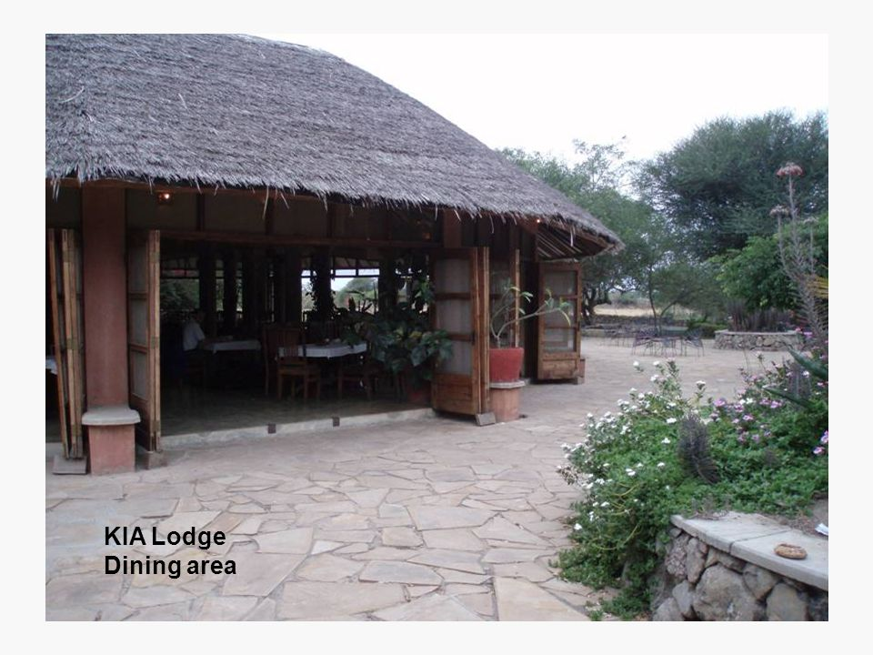 KIA Lodge Dining area