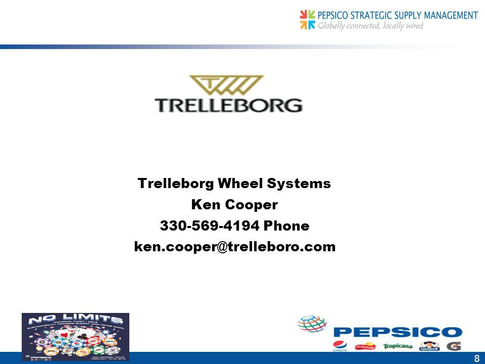 8 Trelleborg Wheel Systems Ken Cooper 330-569-4194 Phone ken.cooper@trelleboro.com
