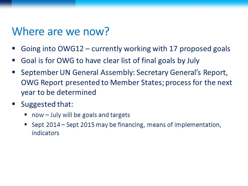 OWG: Proposed Goal 3.
