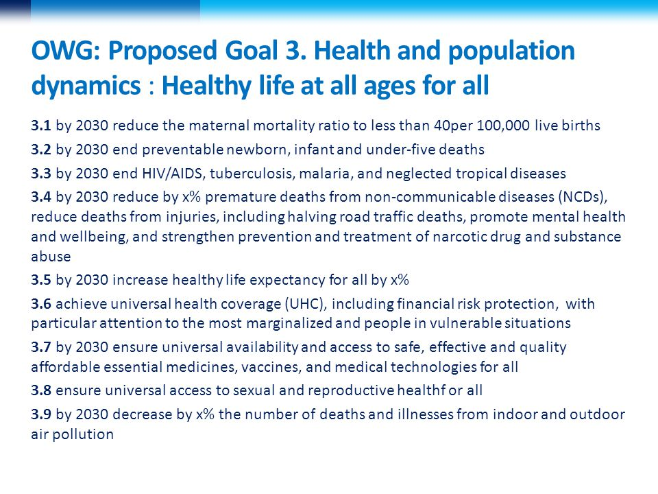 Challenges  Very crowded landscape; hard to prioritise between NCDs, disease specific , health systems and social determinants  Must be achievable, measurable and global  Access to data –i.e.