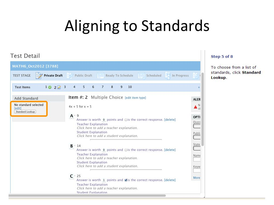Aligning to Standards