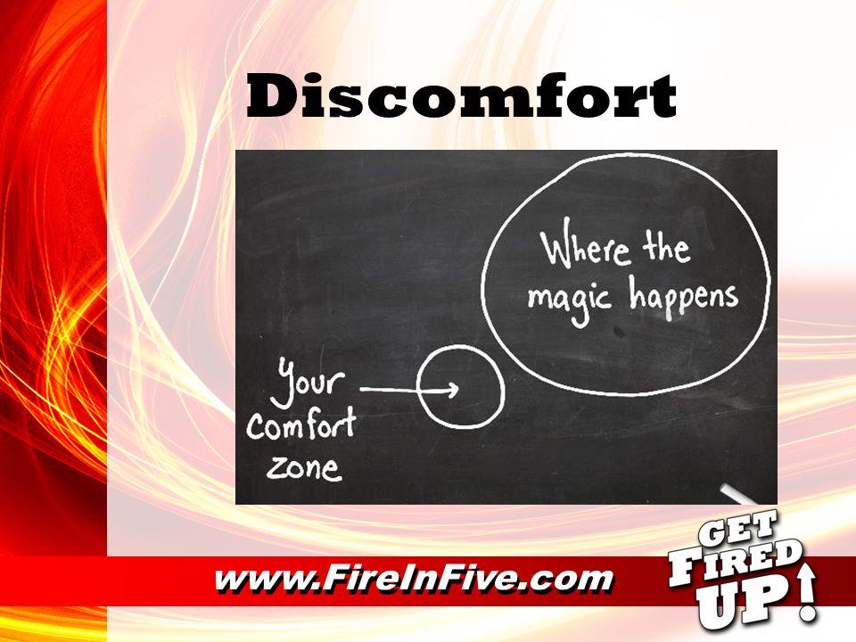 Discomfort www.FireInFive.com