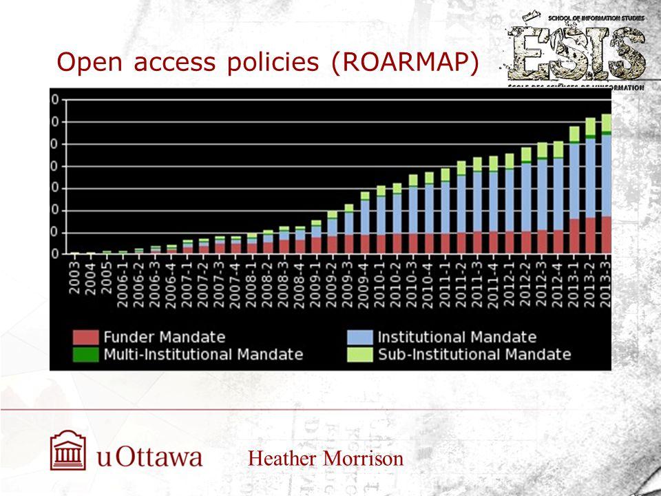 Open access policies (ROARMAP) Heather Morrison