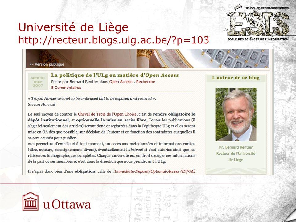 Université de Liège http://recteur.blogs.ulg.ac.be/ p=103