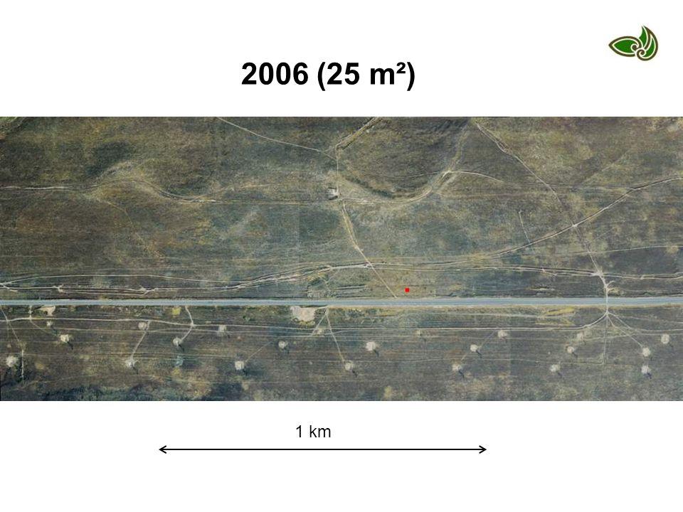1 km. 2006 (25 m²)