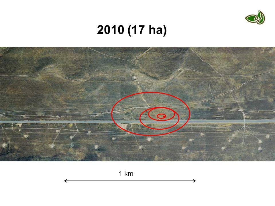 1 km 2010 (17 ha).