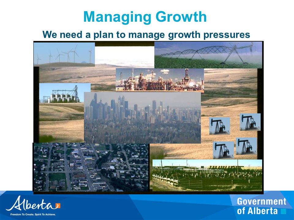 Managing Growth We need a plan to manage growth pressures