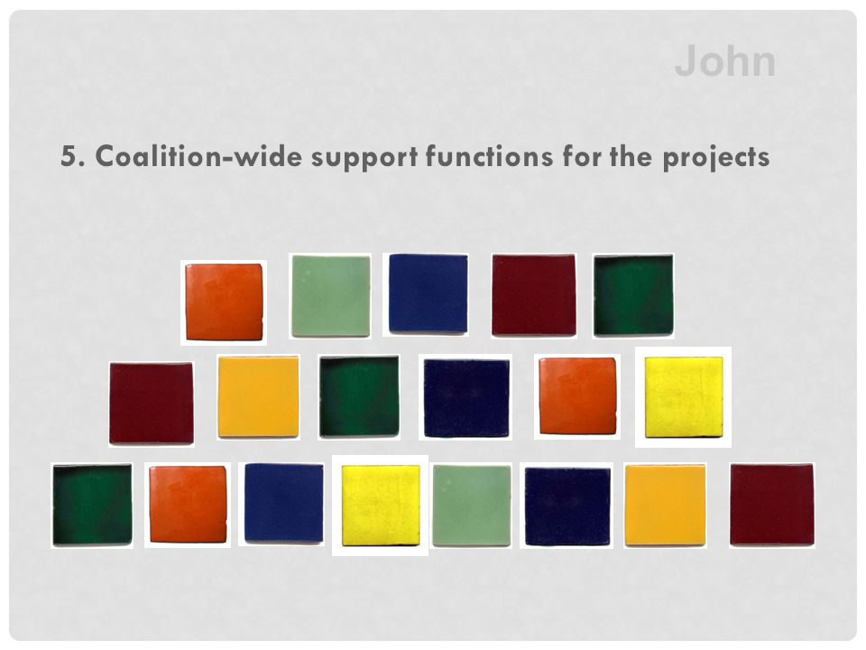5. Coalition-wide support functions for the projects John