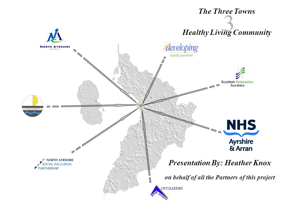 The Three Towns Healthy Living Community 3 Presentation By: Heather Knox on behalf of all the Partners of this project