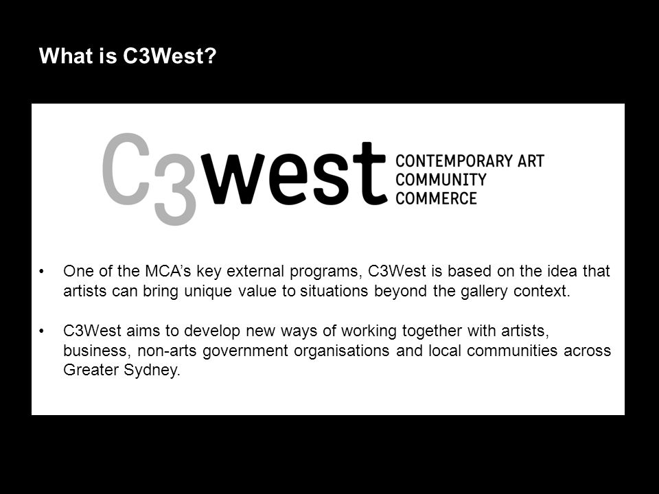 What is C3West.