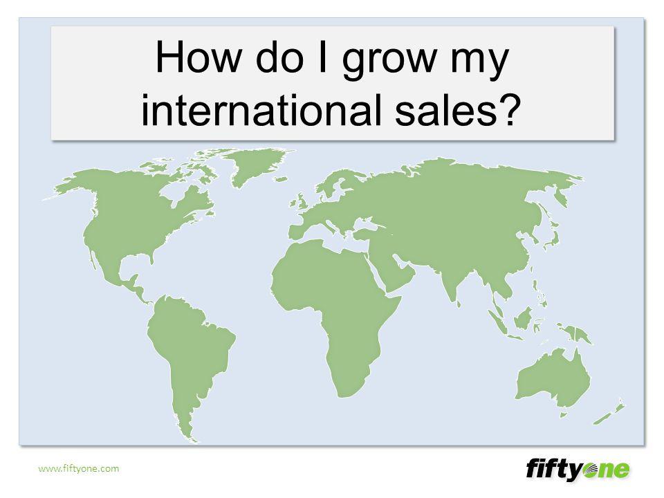 www.fiftyone.com How do I grow my international sales?