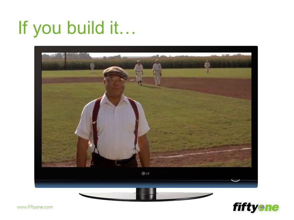 www.fiftyone.com If you build it…