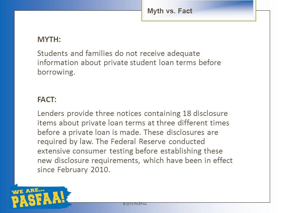 © 2013 PASFAA Private Loans vs. PLUS/Grad PLUS – Keri Neidig, Sallie Mae