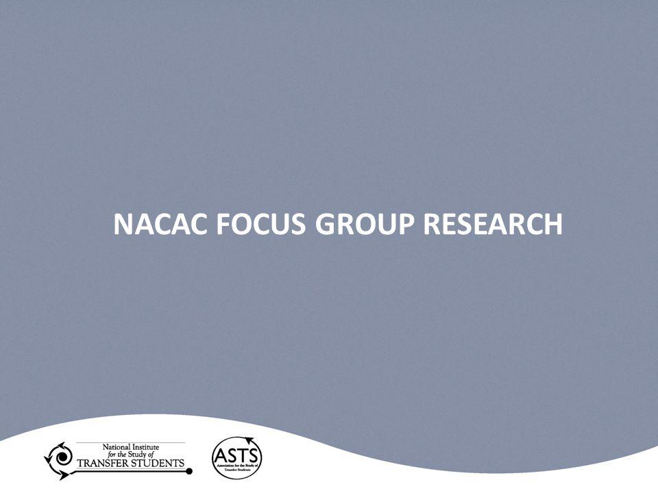 NACAC FOCUS GROUP RESEARCH