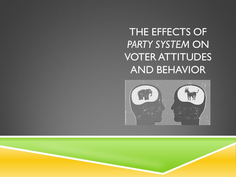 THE EFFECTS OF PARTY SYSTEM ON VOTER ATTITUDES AND BEHAVIOR