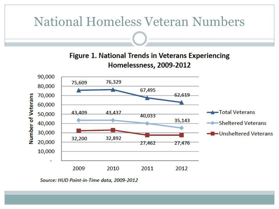 National Homeless Veteran Numbers