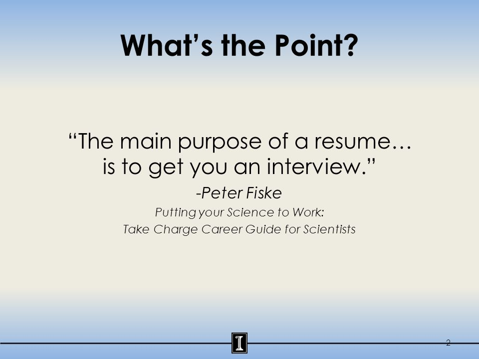 Review Your Resume!!