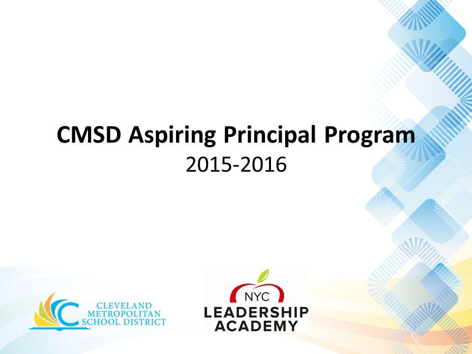 CMSD Aspiring Principal Program 2015-2016