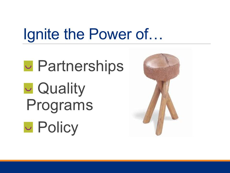Ignite the Power of… Partnerships Quality Programs Policy