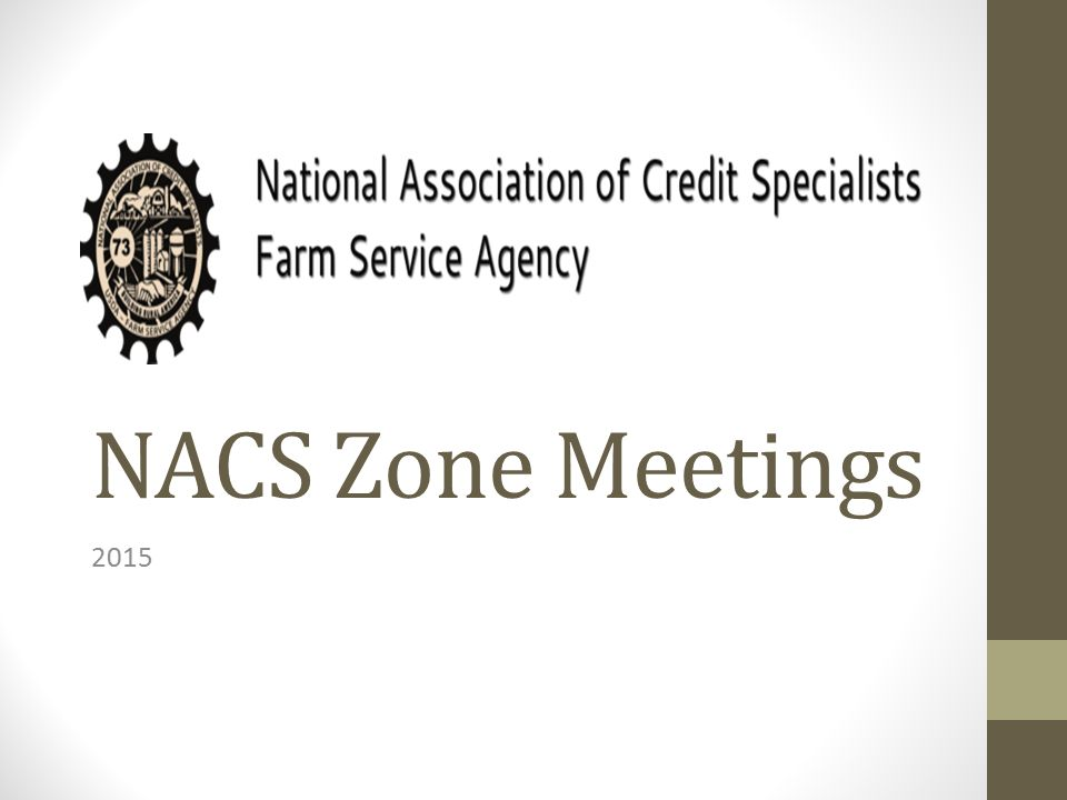 NACS Zone Meetings 2015