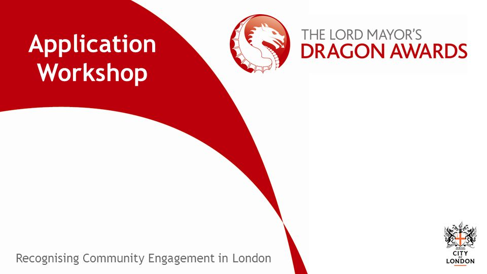 Recognising Community Engagement in London Application Workshop