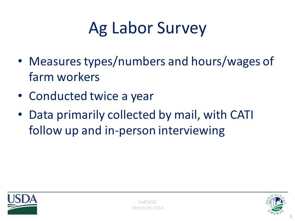 FedCASIC March 19, 2014 Ag Labor Survey Cont.