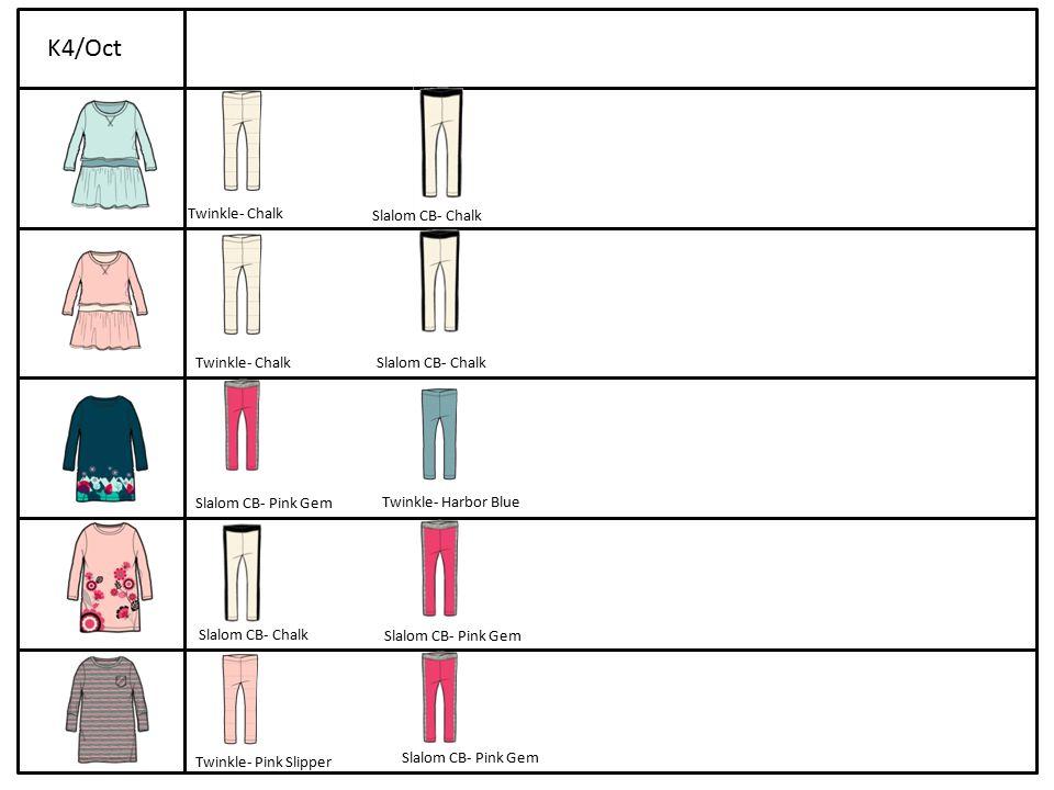 Twinkle- Chalk Slalom CB- Chalk Twinkle- ChalkSlalom CB- Chalk Slalom CB- Pink Gem Twinkle- Harbor Blue Slalom CB- Chalk Slalom CB- Pink Gem Twinkle- Pink Slipper K4/Oct