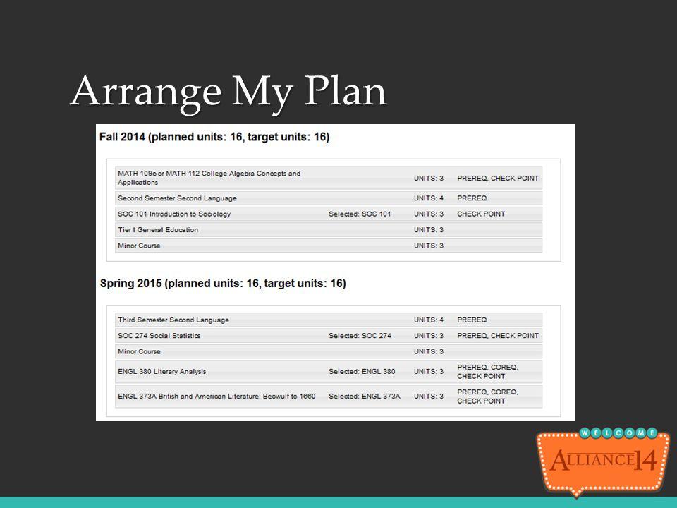 Arrange My Plan