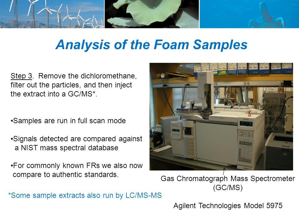 Gas Chromatograph Mass Spectrometer (GC/MS) Agilent Technologies Model 5975 Step 3.
