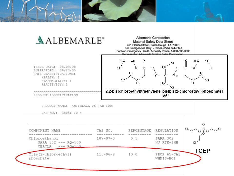 2,2-bis(chloroethyl)triethylene bis[bis(2-chloroethyl)phosphate] V6 TCEP