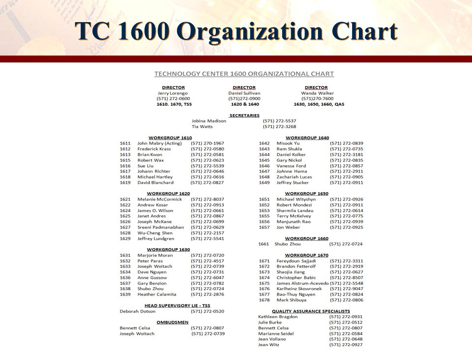TC 1600 Workgroups WorkgroupsSubject MatterSPEs 1610sOrganic Compounds: Bio-Affecting, Body Treating, Drug Delivery, Steroids, Herbicides, Pesticides, Cosmetics, and Drugs.