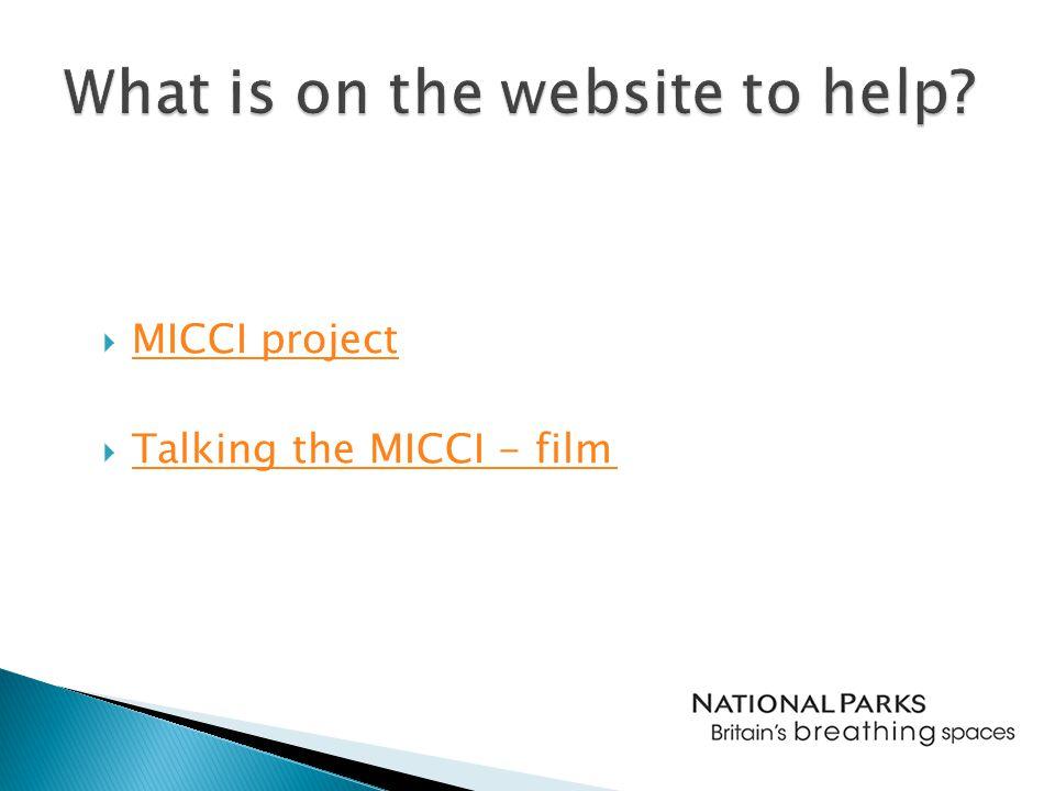  MICCI project MICCI project  Talking the MICCI - film Talking the MICCI - film