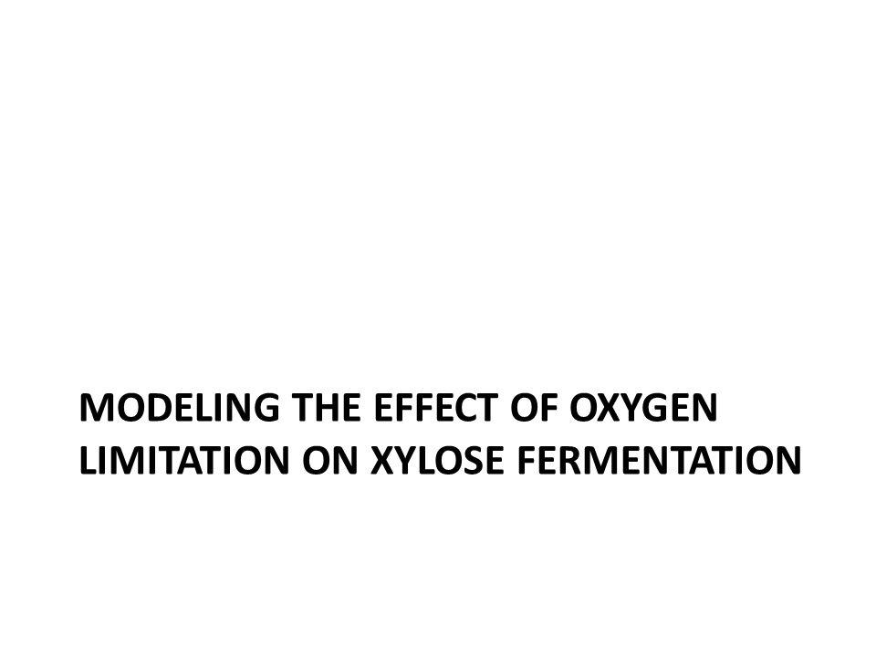 MODELING THE EFFECT OF OXYGEN LIMITATION ON XYLOSE FERMENTATION