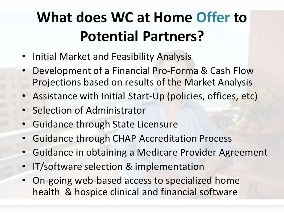 What does WC at Home Offer to Potential Partners.