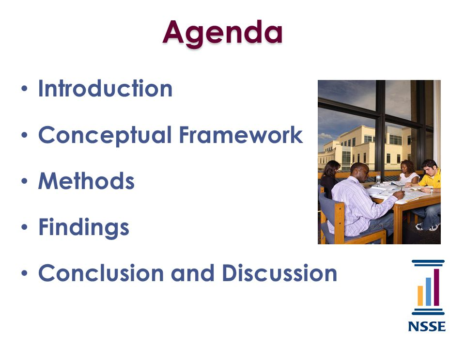 Agenda Introduction Conceptual Framework Methods Findings Conclusion and Discussion