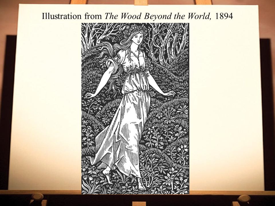 Illustration from The Wood Beyond the World, 1894