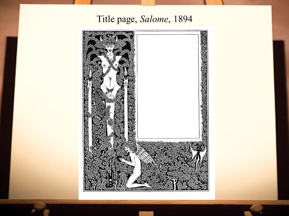 Title page, Salome, 1894