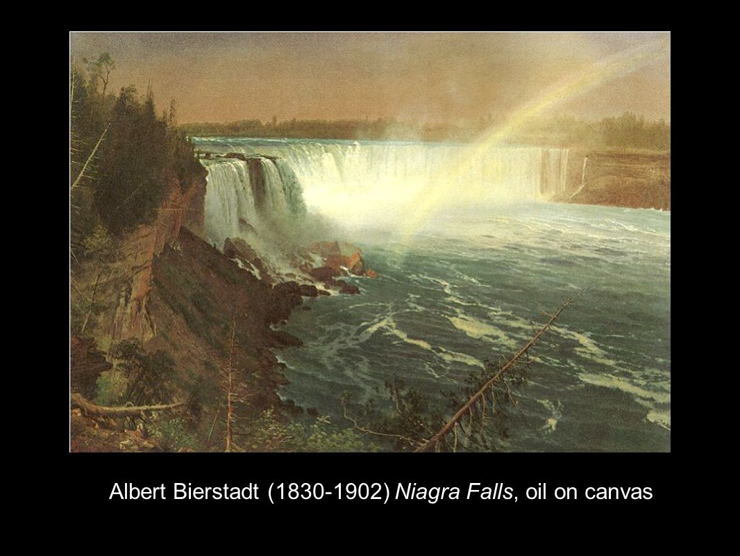 Albert Bierstadt (1830-1902) Niagra Falls, oil on canvas