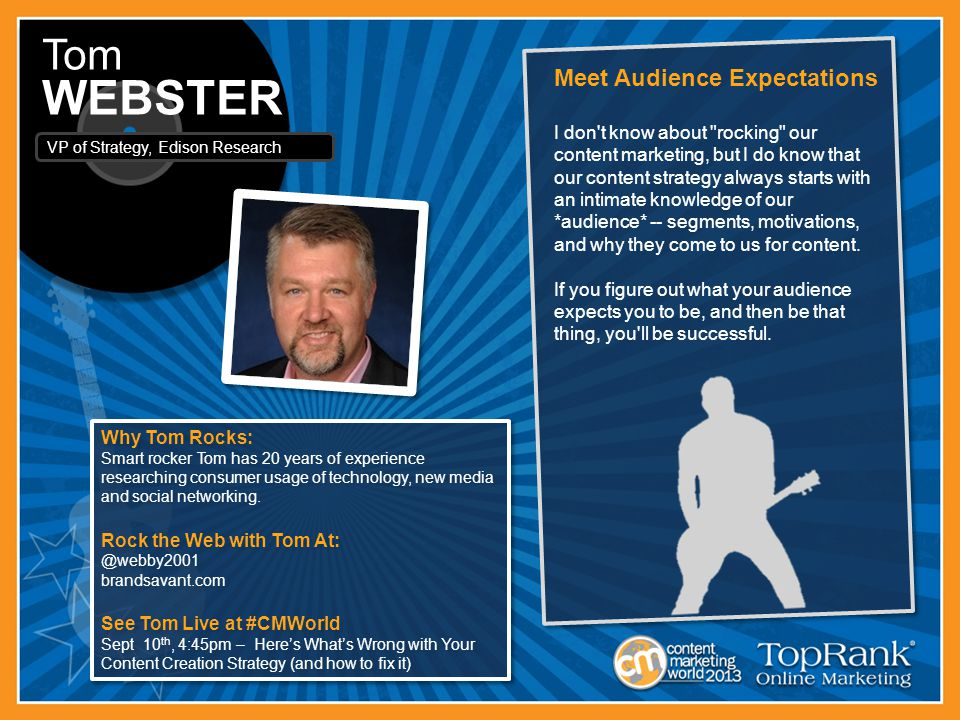 Why Tom Rocks: Smart rocker Tom has 20 years of experience researching consumer usage of technology, new media and social networking.