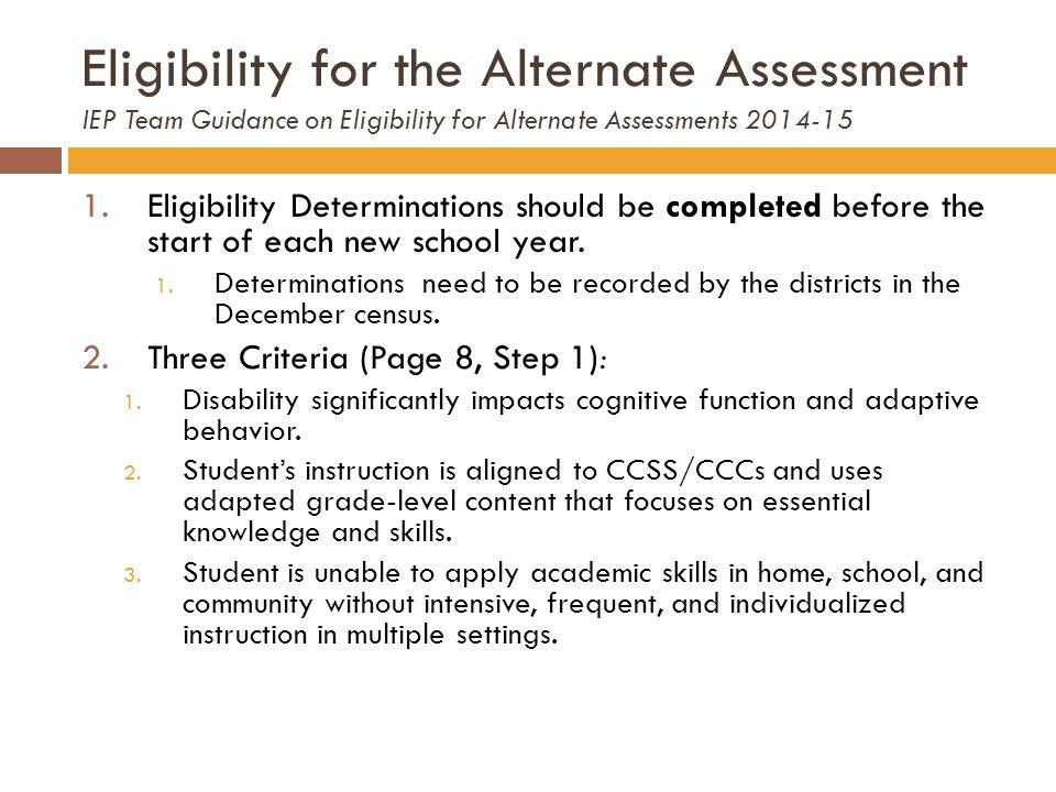Participation Criteria Form (page 9)