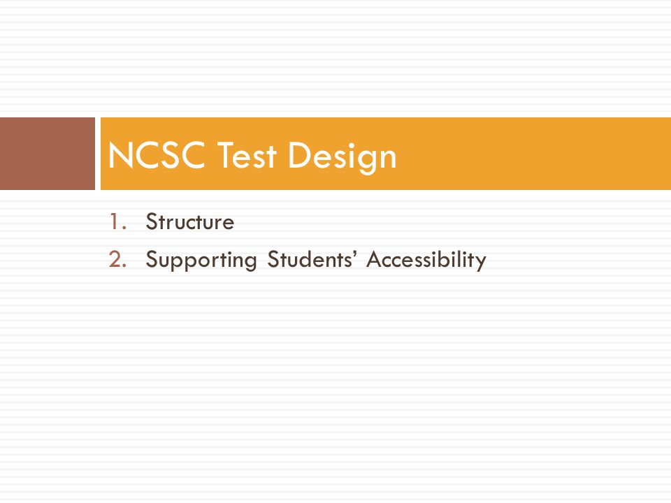 Assessment Features (Test supports available to all students) COMPUTERPAPER (Teacher-provided) Answer MaskingPiece of paper that covers one or more of the answer options; the answers the student has eliminated Alternate Color ThemesColor overlays Increase Size of Text and Graphics (Magnification) Adjust size before printing Increase VolumeUse separate testing space if not using headphones Line Reader ToolTwo pieces of paper on either side of the line the student needs to focus on Text-to-speech (Audio Player)Read Aloud/Re-read
