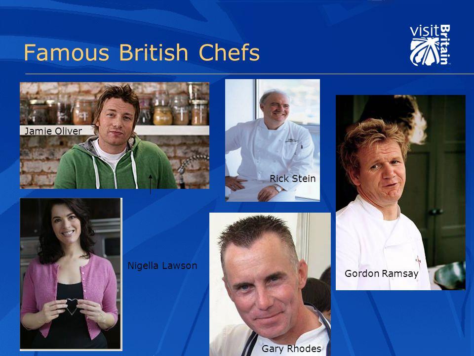 Famous British Chefs Jamie Oliver Nigella Lawson Rick Stein Gary Rhodes Gordon Ramsay