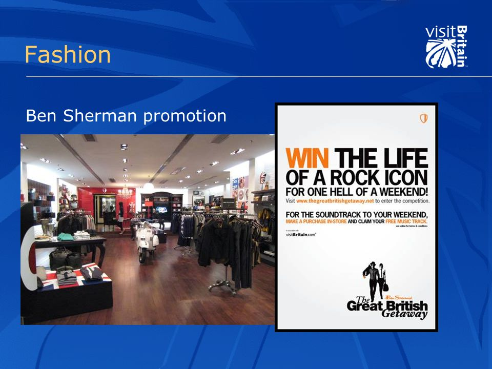 Fashion Ben Sherman promotion